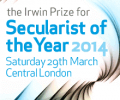 Secularist of the Year 2014 - Tickets now on sale