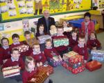 Enticing children to evangelism with toys: Samaritan's Purse shoebox scheme.