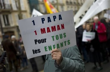 French confrontation of church and state over gay marriage