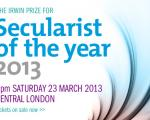 Have you got your ticket for Secularist of the Year? Book now and avoid disappointment