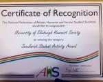 "University of Edinburgh students win ""best secularist student activity"" award"