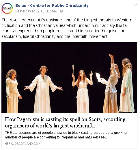 """Scottish evangelists identify Paganism as one of the """"biggest"""