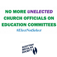Scottish secularists challenge unelected church-appointees on Local Authority Education Committees