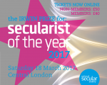 Tickets on sale and nominations open for Secularist of the Year 2017!