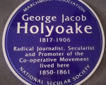 NSS unveils blue plaque commemorating Holyoake