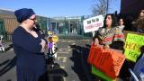 Angry mums challenge LGBT protesters outside Birmingham school
