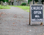 Church open sign