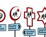 Faith school signs