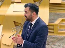 Humza Yousaf during hate crime bill debate