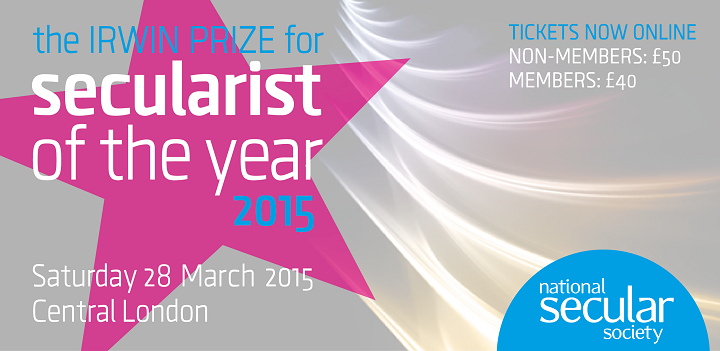 Secularist of the year 2015 picture and link