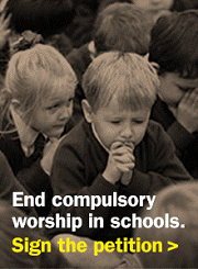 campaign image and link for End compulsory worship in schools petition