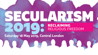 Image: Secularism 2019 reclaiming religious freedom - advert for conference click for details.